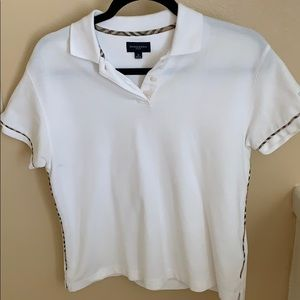Burberry Golf White Polo shirt size Small